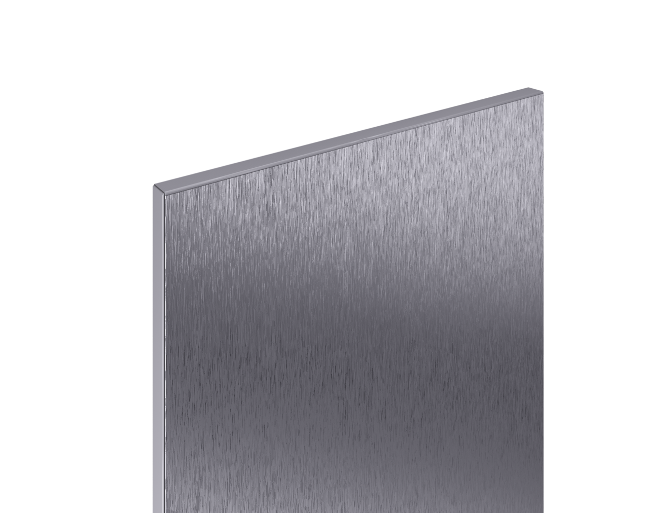3 D Cabinet Reflections Brushed Metal LR