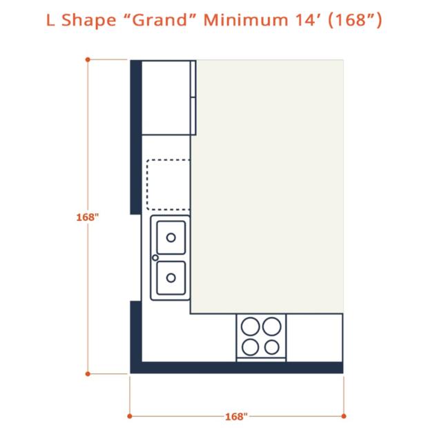 Web L shape grand